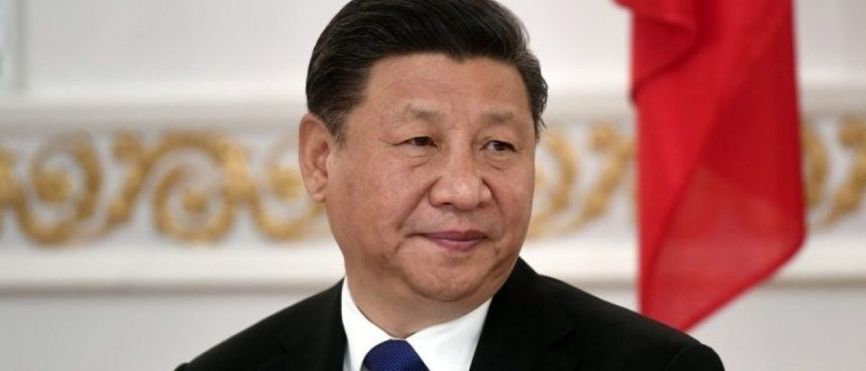 China's President Xi Jinping attends the signing ceremony at the Presidential Palace in Helsinki