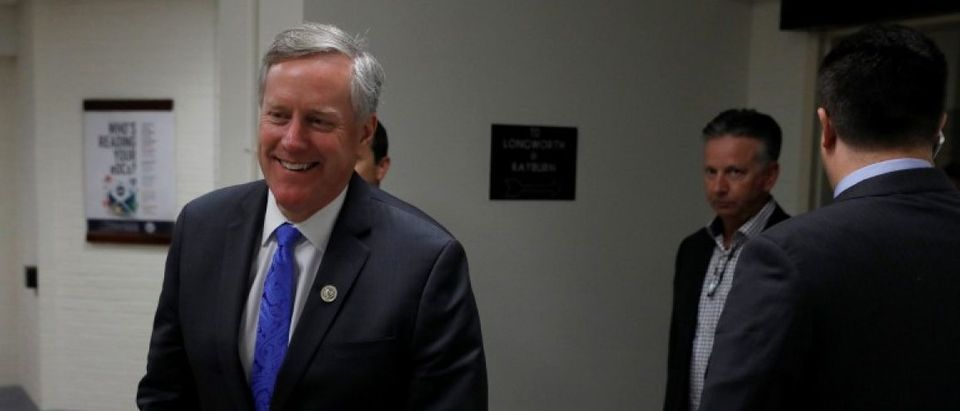 U.S. Representative Mark Meadows (R-NC), Chairman of the Freedom Caucus, walks to a vote on Capitol Hill in Washington