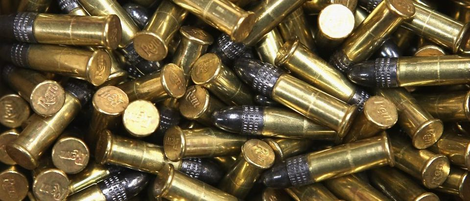 A box of 500 .22 cal. bullets are offered for sale at Freddie Bear Sports on October 18, 2012 in Tinley Park, Illinois. Photo by Scott Olson/Getty Images)
