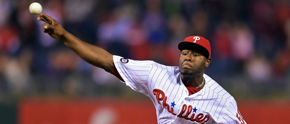 Philadelphia Phillies pitcher Hector Neris Getty Images/Drew Hallowell