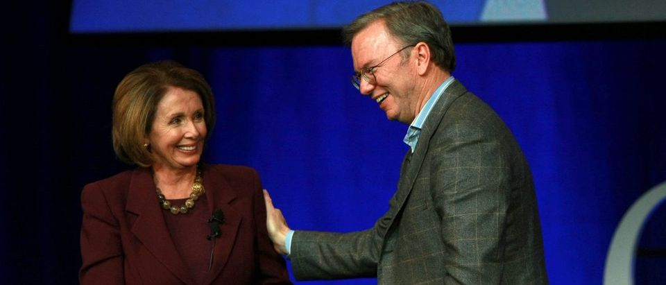 Speaker Pelosi Tours Google With CEO Eric Schmidt
