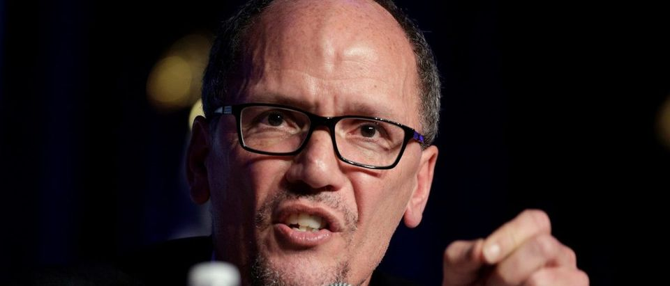 Former Secretary of Labor Tom Perez, a candidate for Democratic National Committee Chairman, speaks during a Democratic National Committee forum in Baltimore, Maryland, U.S., February 11, 2017. REUTERS/Joshua Roberts