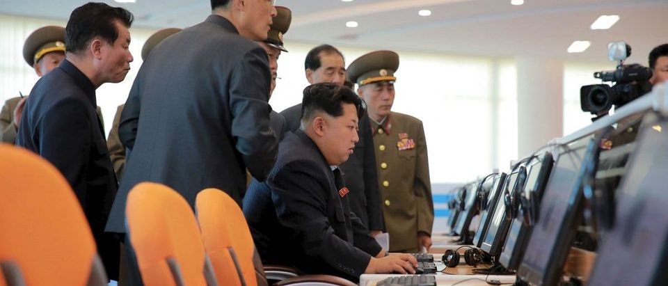 KCNA picture of North Korean leader Kim Jong Un giving field guidance at the Sci-Tech Complex