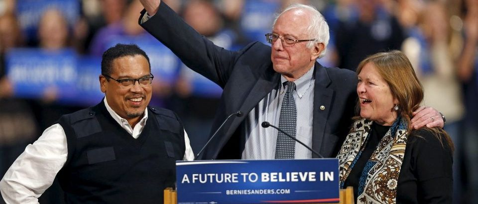 Bernie Sanders with Keith Ellison