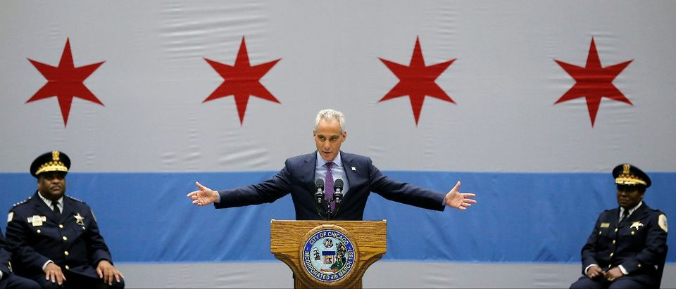 Chicago Mayor Rahm Emanuel with Police