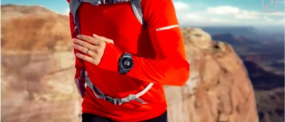 The fēnix 3 is good for hiking (Amazon Video screenshot)