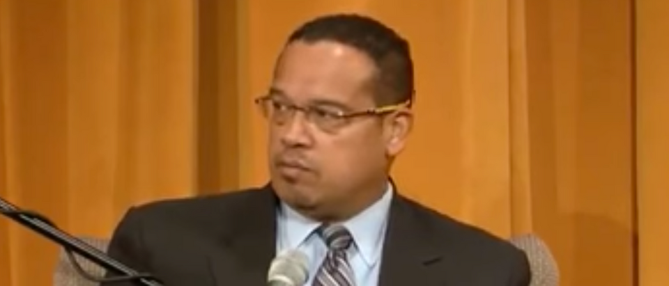 Keith Ellison discusses Obama at University of Minnesota, April 19, 2017. (Youtube screen grab)