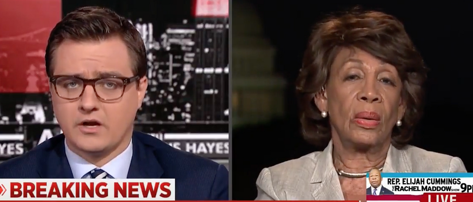 California Rep. Maxine Waters interviewed by MSNBCs Chris Hayes