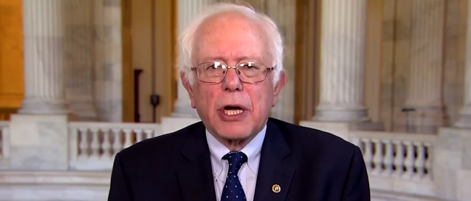 """Bernie Sanders appears on """"CBS This Morning,"""" April 28, 2017. (Youtube screen grab)"""