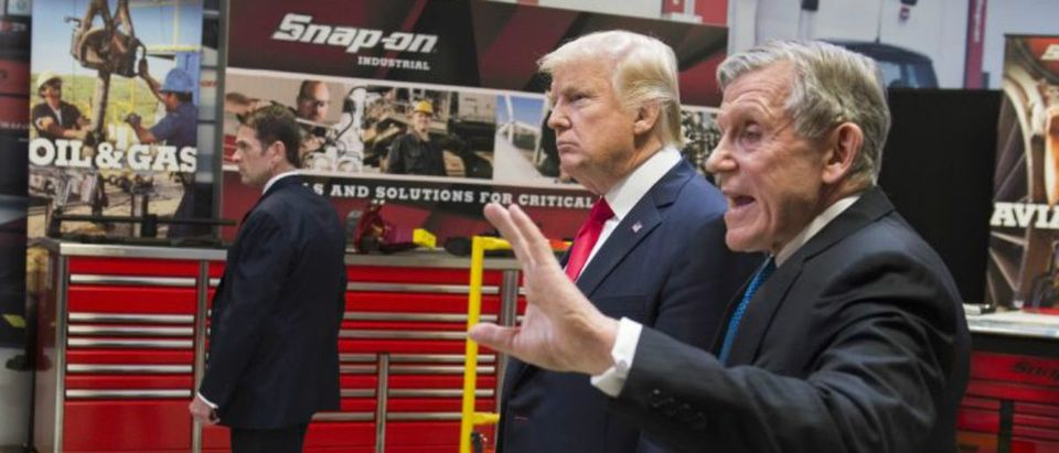 U.S. President Donald Trump at Snap On Tools