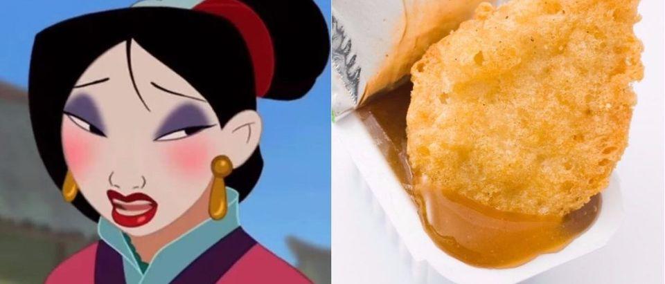 McDonalds Mulan crossover sauce is racist (Photos: YouTube Screengrab/Nicole Rey and Shutterstock/ Johny Keny)