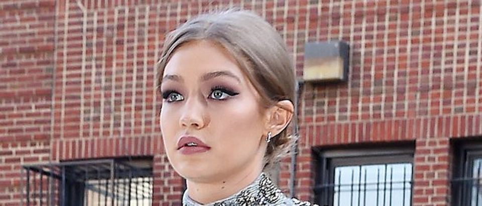 Gigi Hadid looks stunning as she seen arriving home from a photo shoot