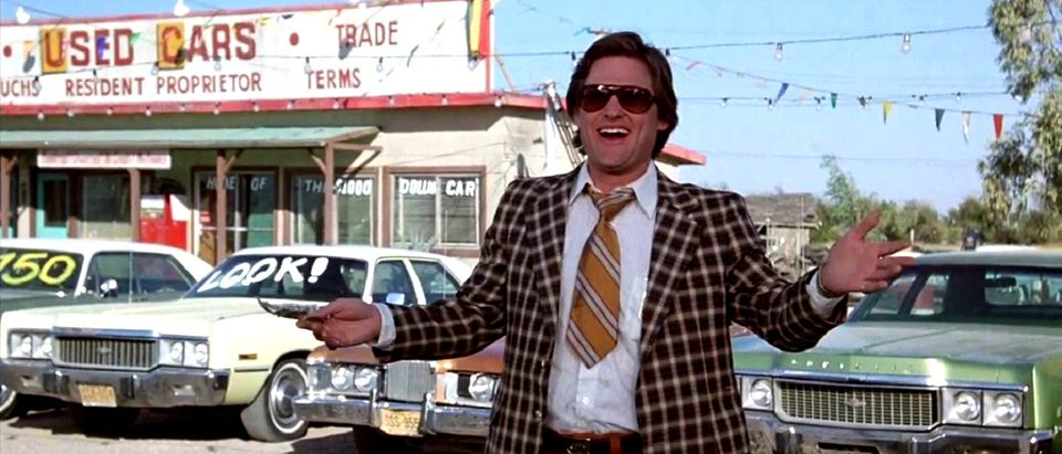 used car salesman YouTube screenshot/Used Cars trailer Sony Pictures Home Entertainment