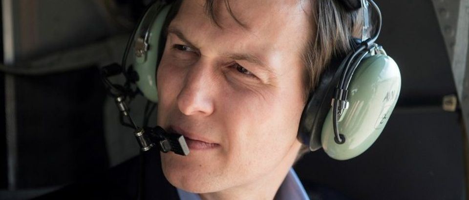 Jared Kushner, senior advisor and son-in-law to U.S. President Donald Trump takes a helicopter ride over Baghdad