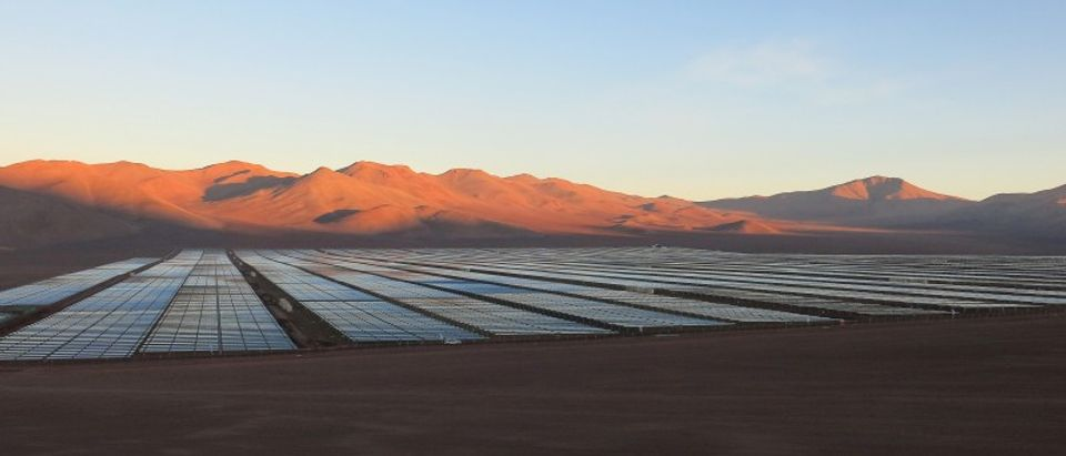 FILE PHOTO: Solar panels are seen in the Atacama Desert, Chile