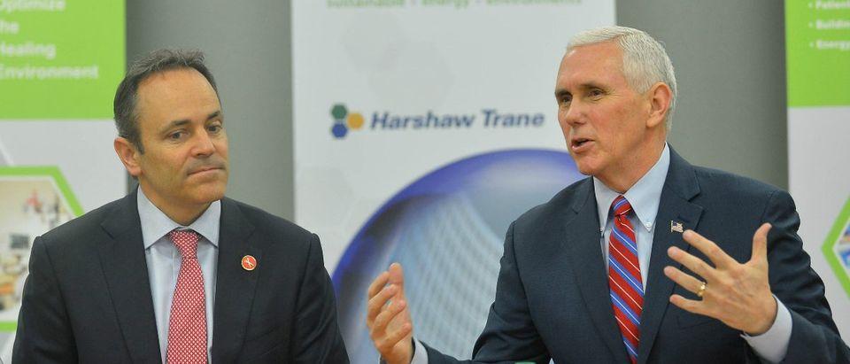 Kentucky Gov. Matt Bevin with Vice President Mike Pence