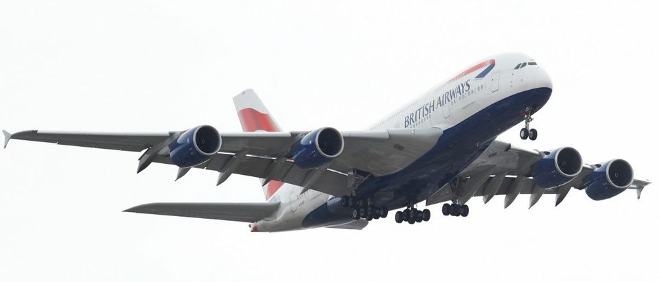 A British Airways A380 makes it approach to land at Heathrow airport in London, Britain March 17, 2017. REUTERS/Peter Nicholls