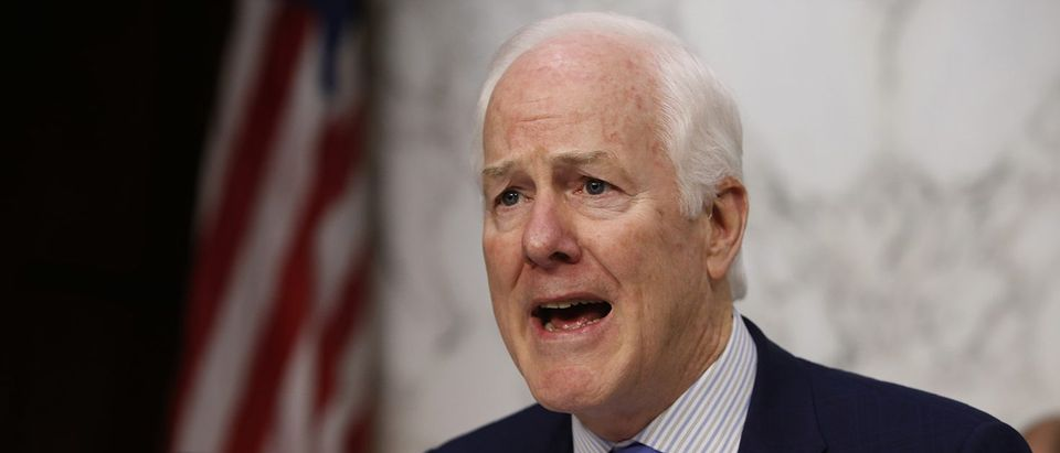 U.S. Senator Cornyn questions Supreme Court nominee Gorsuch during Senate Judiciary Committee confirmation hearing on Capitol Hill in Washington