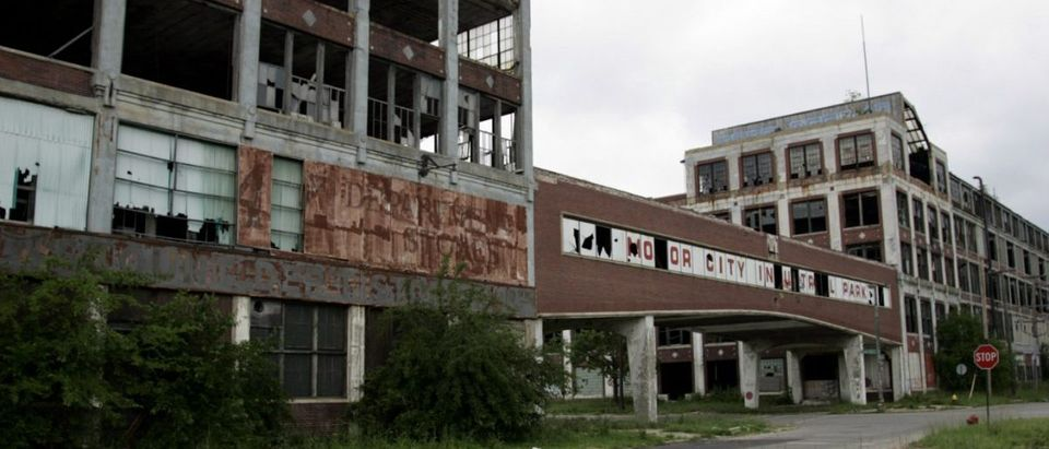 Abandoned Packard plant in Detroit, MI