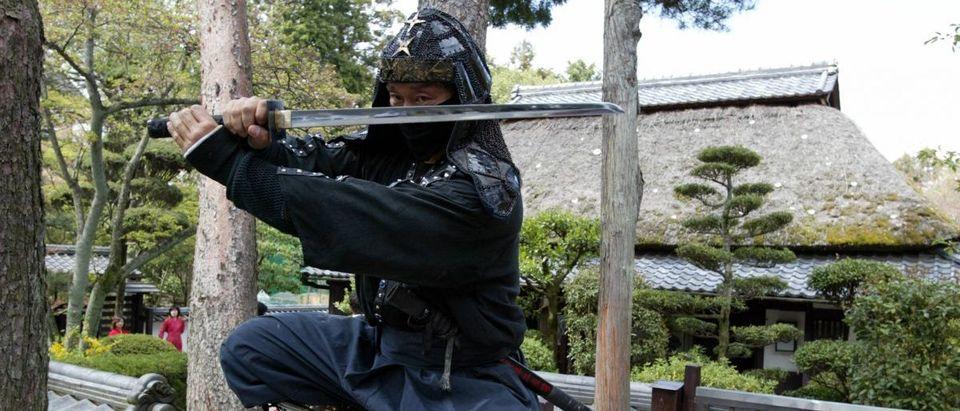An authentic master of ninjutsu martial art, Kazuk
