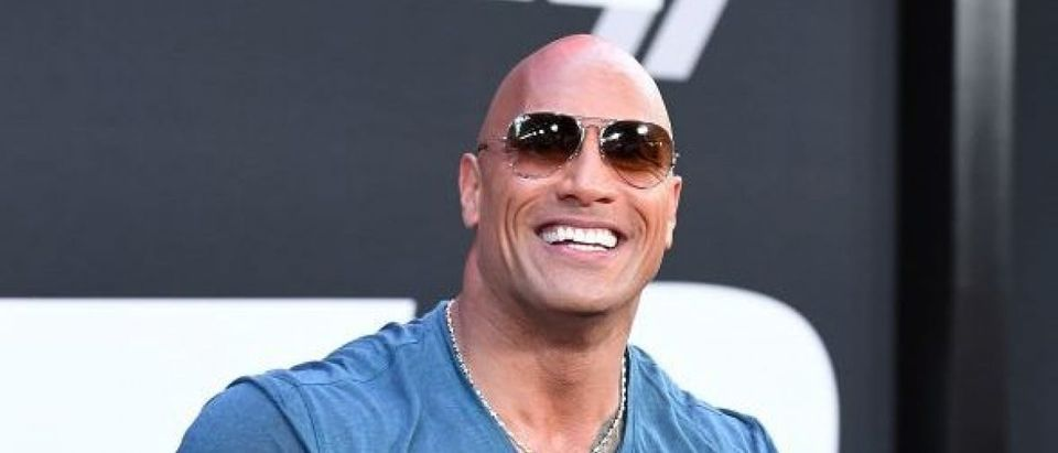 Actor Dwayne Johnson attends the premiere of Universal Pictures' 'The Fate Of The Furious' at Radio City Music Hall on April 8, 2017 in New York City. (Photo credit should read ANGELA WEISS/AFP/Getty Images)