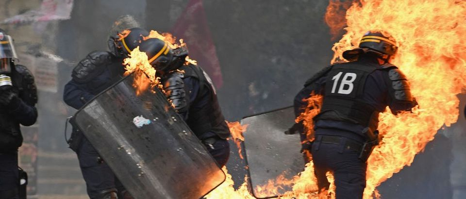 May Day Protesters Clash With Police In Paris