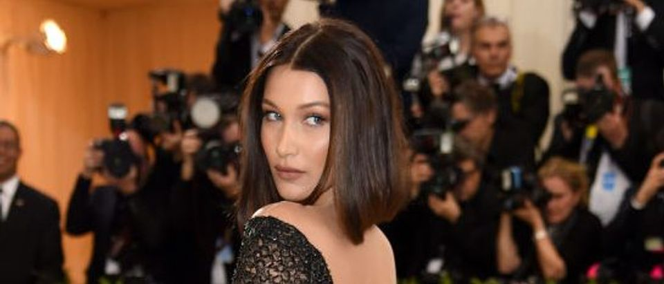 """Bella Hadid attends the """"Rei Kawakubo/Comme des Garcons: Art Of The In-Between"""" Costume Institute Gala at Metropolitan Museum of Art on May 1, 2017 in New York City. (Photo by Dimitrios Kambouris/Getty Images)"""