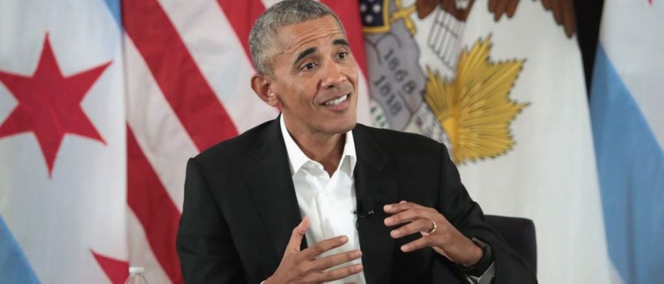 Barack Obama Hosts Community Event For Obama Presidential Center