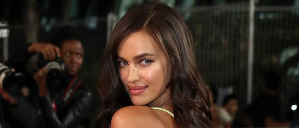 "Irina Shayk attends the ""Hikari (Radiance)"" screening during the 70th annual Cannes Film Festival at Palais des Festivals on May 23, 2017 in Cannes, France. (Photo by Neilson Barnard/Getty Images)"