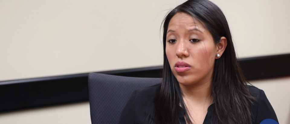 Immigration authorities have removed the DACA status of Jessica Colotl, a 28-year-old illegal immigrant living in the Atlanta area.(Screenshot via Atlanta Journal-Constitution video)