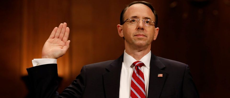 Rod Rosenstein, nominee to be Deputy Attorney General, testifies before the Senate Judiciary Committee