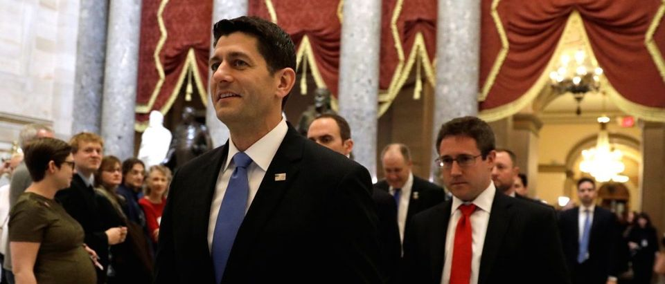 Speaker Ryan departs the House Chamber in the U.S. Capitol in Washington