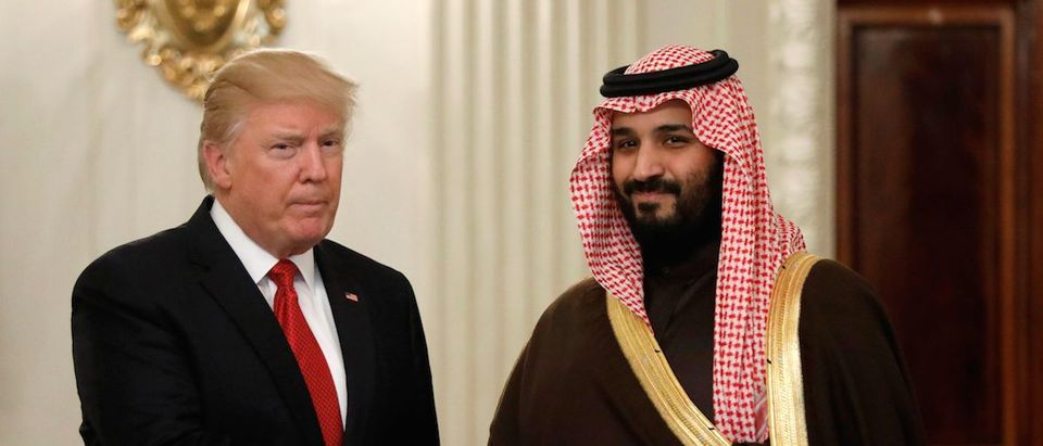 Trump meets Saudi crown prince at the White House in Washington