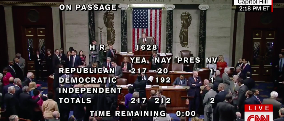 Screen Shot House Passes AHCA (CNN)