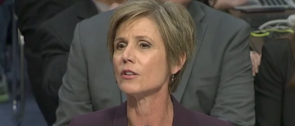 Former Acting Attorney General Sally Yates testifies to the Senate Judiciary Subcommittee on Crime and Terrorism, May 8, 2017. (Senate Judiciary Committee)