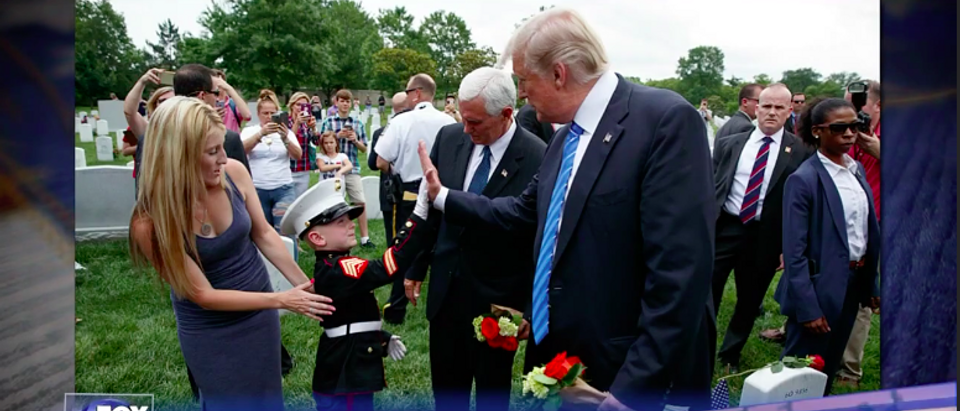 Screen Shot 6 Year Old Christian Jacobs High Fives Trump