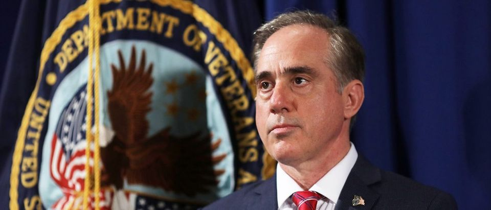 VA Secretary Shulkin looks on prior to President Trump signing Executive Order at the VA Department in Washington