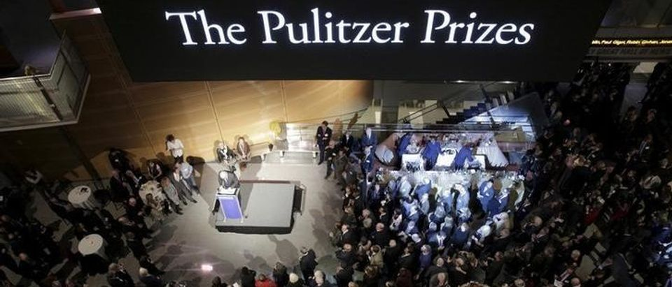 The largest-ever gathering of Pulitzer Prize recipients gather for a celebration honoring the centennial of the Pulitzer Prize at the Newseum in Washington