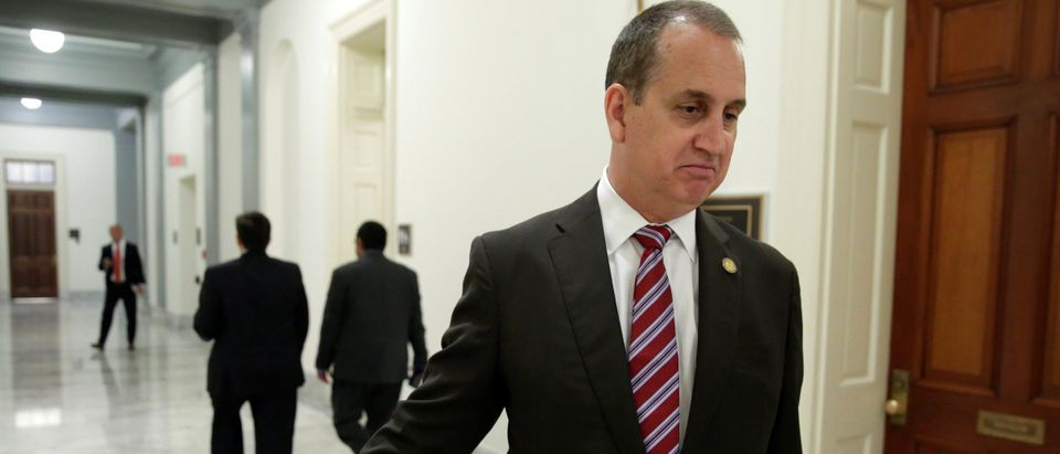 U.S. Rep. Mario Diaz-Balart (R-FL) speaks during an interview for Reuters on Capitol Hill in Washington