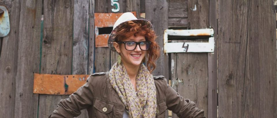 Insufferable-looking hipster (Shutterstock/hurricanehank)