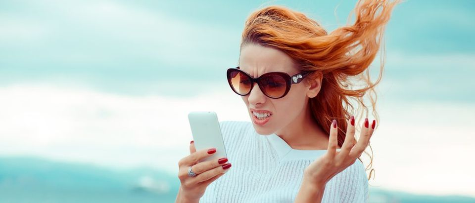 She is obviously getting unwanted messages (Photo via Shutterstock)