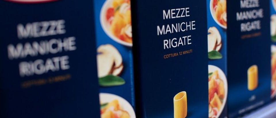 FILE PHOTO: Packs of Barilla pasta are seen in a supermarket in Rome