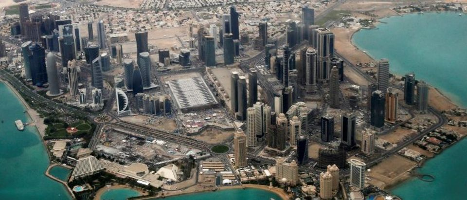 An aerial view is pictured of Doha's diplomatic area March 21, 2013. REUTERS/Fadi Al-Assaad/File Photo