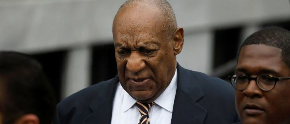 Cosby leaves after the first day of his sexual assault trial at the Montgomery County Courthouse in Norristown