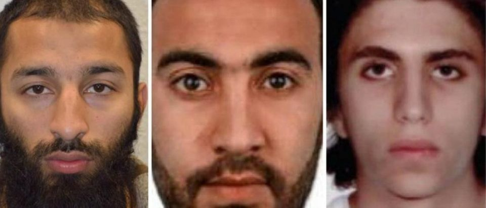 Youssef Zaghba, identified as the the third man shot dead by police officers during the attack on London Bridge and Borough Market is seen in an undated image, with the other two men, handed out by the Metropolitan Police