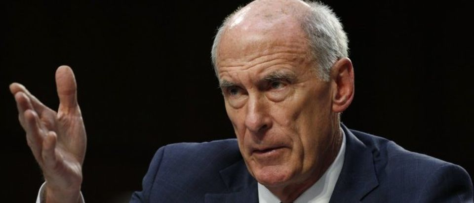 U.S. Director of National Intelligence Coats testifies at a Senate Intelligence Committee hearing on Capitol Hill in Washington