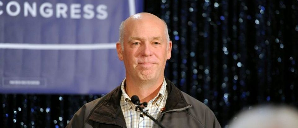 FILE PHOTO - Greg Gianforte delivers his victory speech in Bozeman