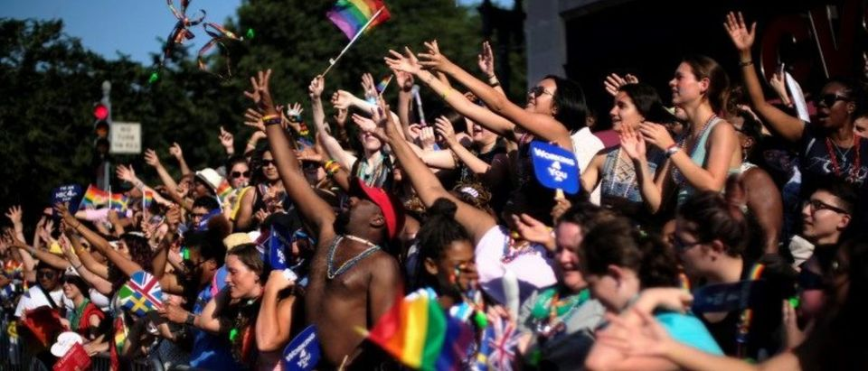 Thousands celebrate the annual LGBTQ Capital Pride parade in Washington