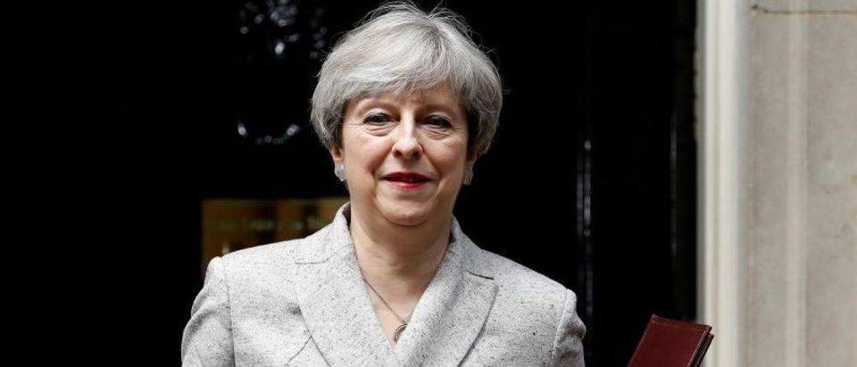 Britain's Prime Minister Theresa May, leaves 10 Downing Street in central London