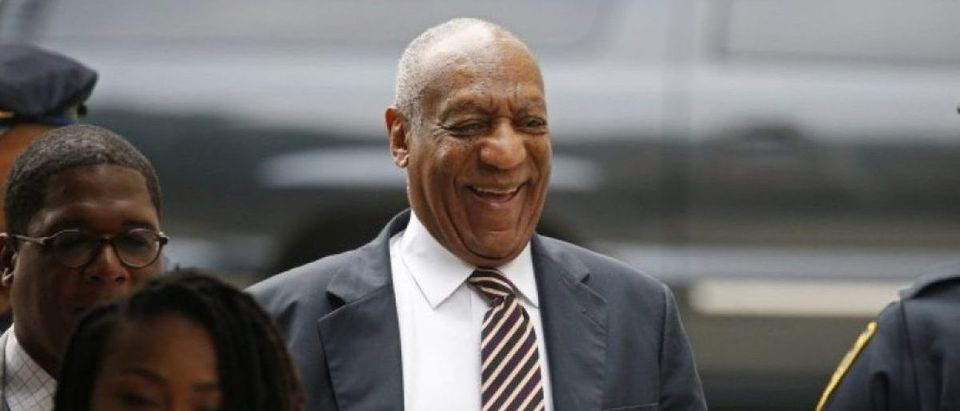 Actor and comedian Bill Cosby arrives at his sexual assault trial at the Montgomery County Courthouse in Norristown